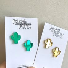 Cactus Mini Studs Mirror Acrylic Laser Cut Stud Earrings