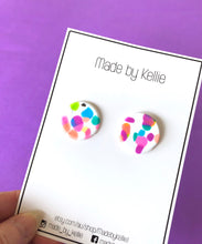 White Sprinkle Statement Studs by Made By Kellie