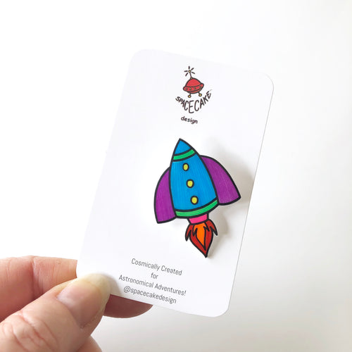 Rocketship Pin by Spacecake Design