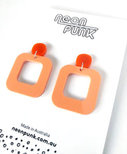 Don't Be A Square Orange Fizz Acrylic Earrings