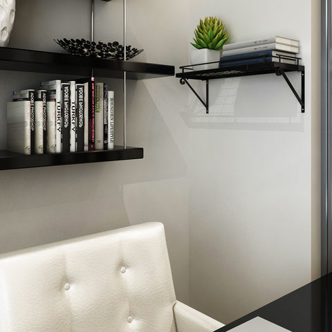 Zesproka Wall Rack, Bookshelf, Black