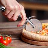 Pizza Cutter Wheel – Heavy Duty & Food Grade Stainless Steel Pizza Slicer with Non Slip, Ergonomic Handle – Super Sharp, Safe & Easy To Use Versatile Cutter