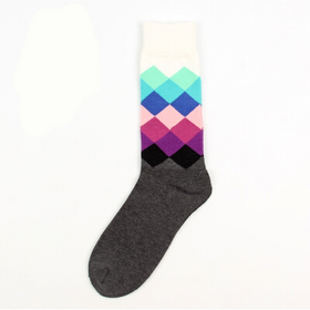 Long Purple Geometric Socks