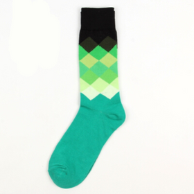 Long Green Geometric Socks