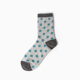 Long Blue Spotted Socks