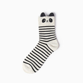 Long Striped Panda Socks