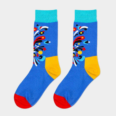 Long Color Splash Socks