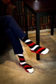 Long White Stripe Socks