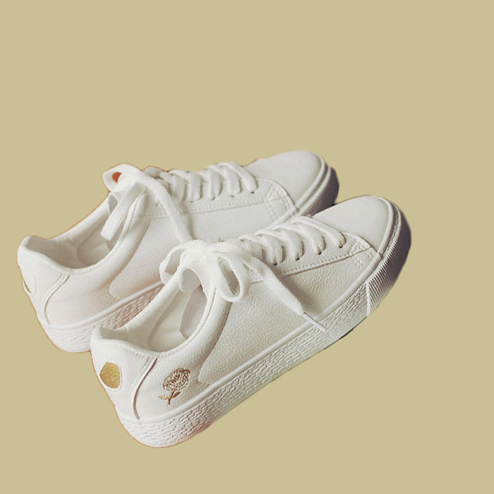 Daisy casual all-match white canvas shoes