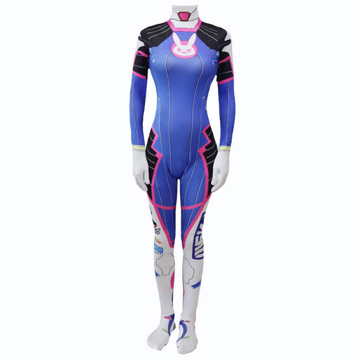 Cat Bunny Anime Kawaii D.VA Overwatch Cosplay Cute One Piece Bodysuit
