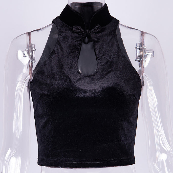 Cheongsam vest back top