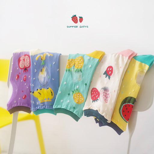 Fruity Peachy Kawaii Japanese Pastel Graphic Socks