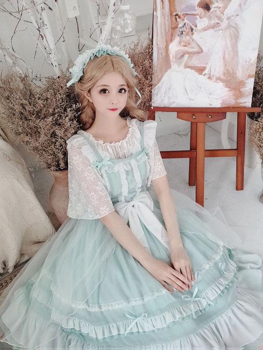Lolita  Sweet and cute style Peer suspender Dress