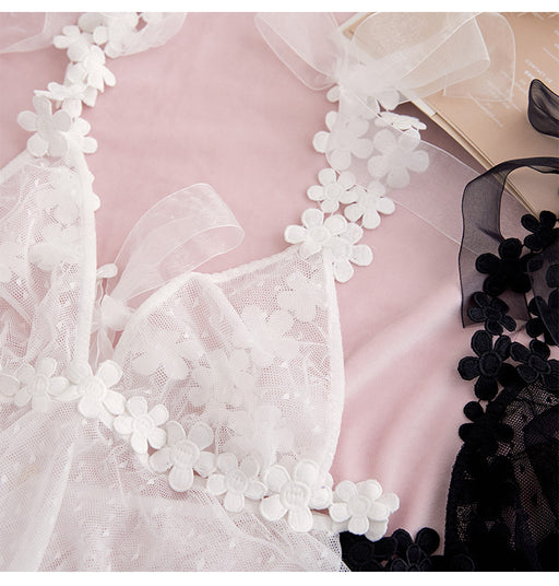 Elegant Pretty Flower Quality Lace Baby Doll Set