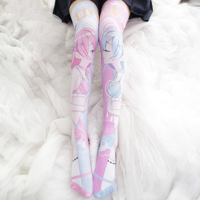 Anime Kawaii Manga Kawaii Knee High Long Socks