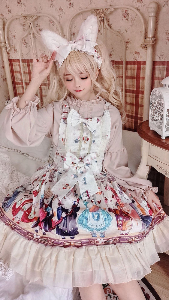 Lolita soft girl dress cloud sea song suspender skirt