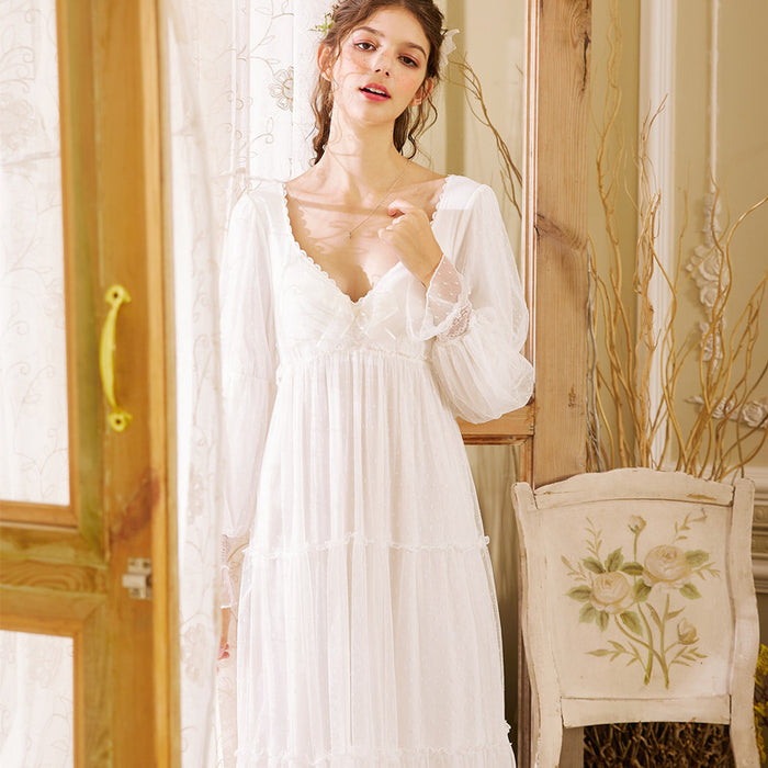 Victorian Era - Snow White Layered Night Gown