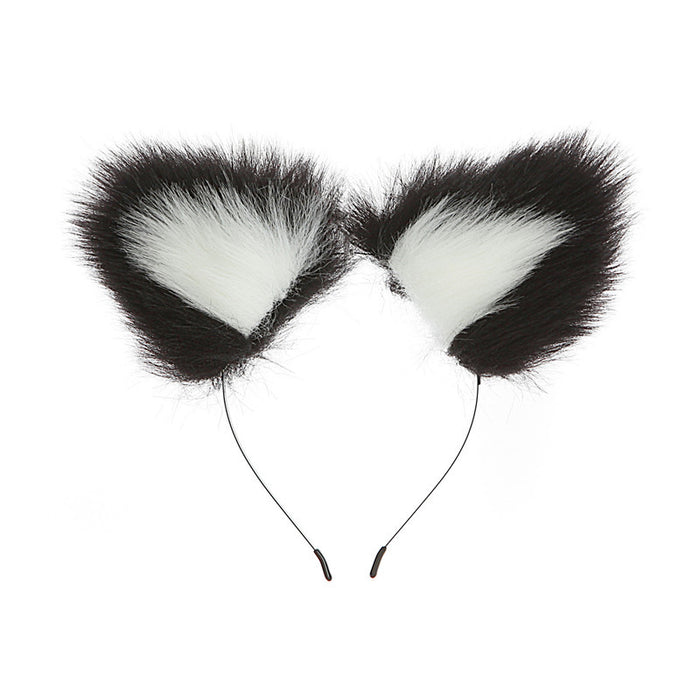 Two-element two-color ear rabbit headband