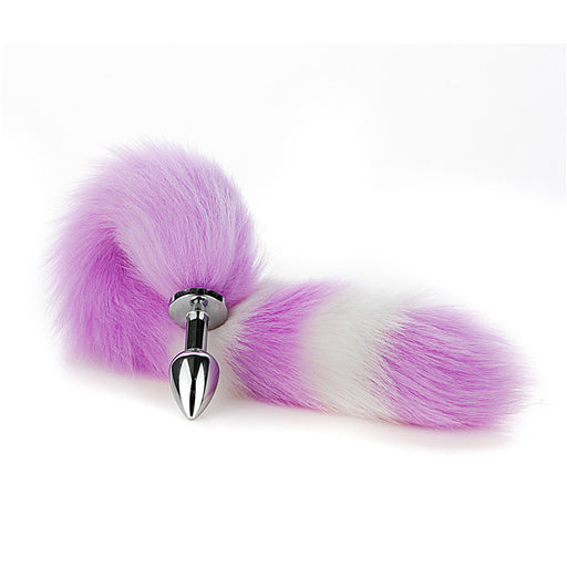 Wild Real Furry Cosplay Cat Long Butt Plug Tail - 40cm Long