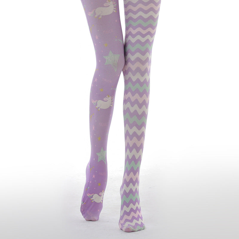 Lavender Harajuku Thigh High Tights