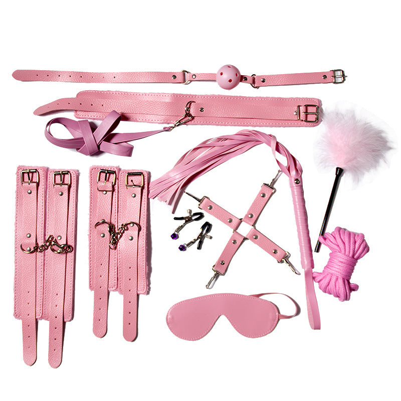 Kawaii Pink Angel Soft BDSM Lover Gothic Bondage Gears Accessories 10 PCS Set