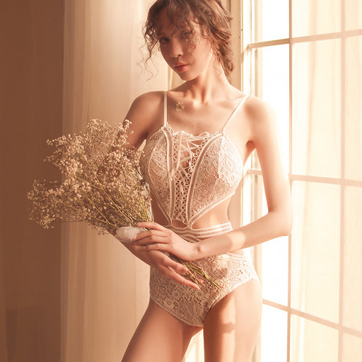 Romantic Flowery Lace Sheer Bodysuit