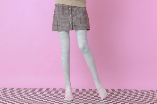 Pastel Bling Harajuku Thigh High Tights