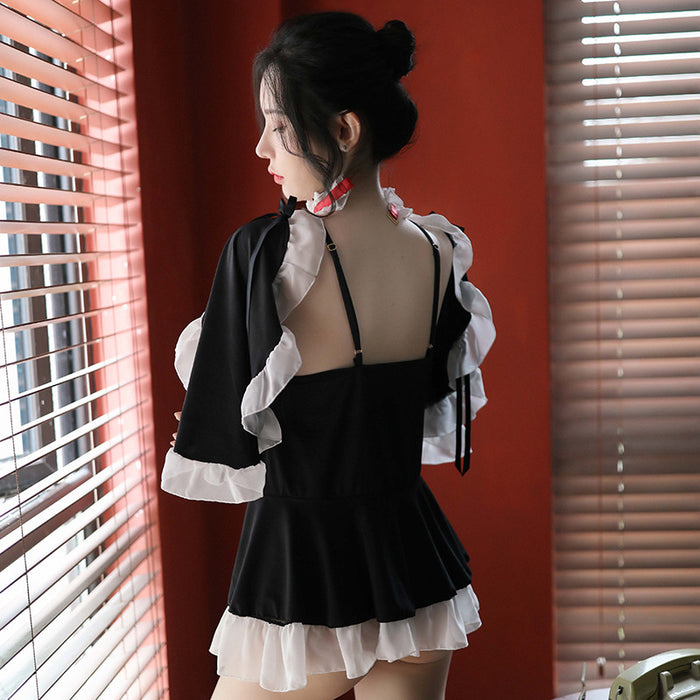 Japanese Ruffle Maid Bride Lingerie Set- 5PCS