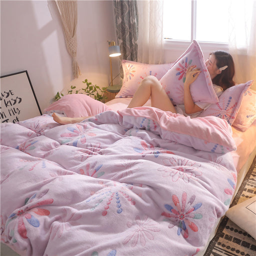 Japanese Harajuku Flower Bedding Sheet Pillow Case Set
