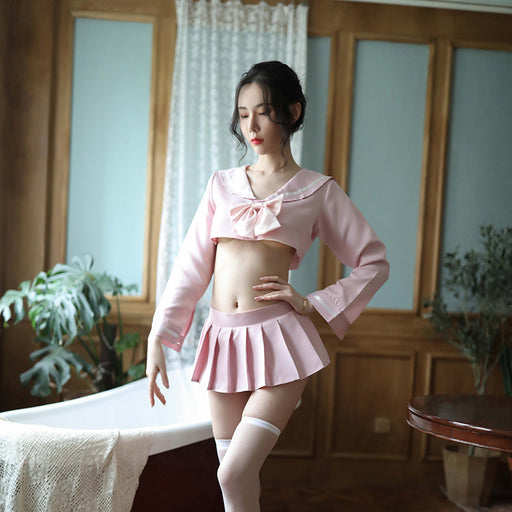 Japanese Sexy School Girl Pink Girl Lingerie Costume Set