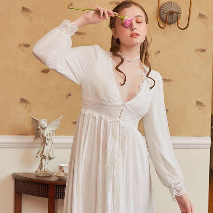 Victorian Era - Holly Sweet Lace Palace Princess Night Gown