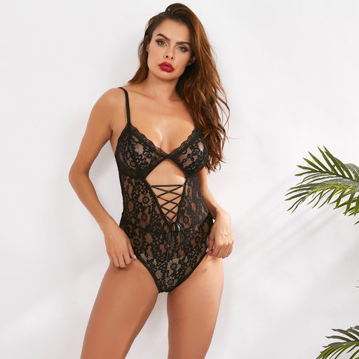 Sexy female lace lace sexy lingerie lace jumpsuit