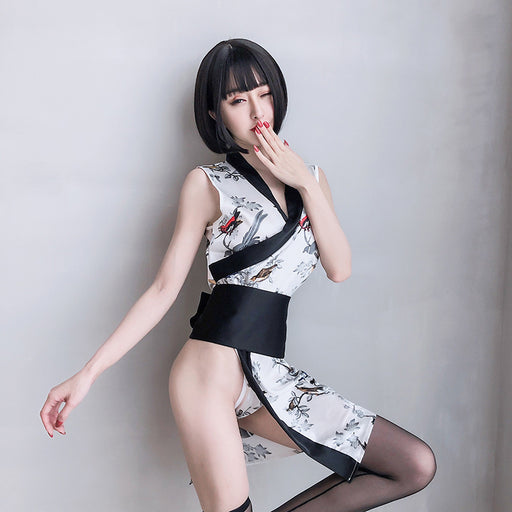 Japanese Classical Printed Sexy Lingerie Set