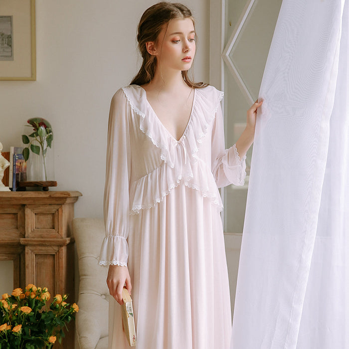 Victorian Era - Princess Nightdress Lace Sexy Cute Night Gown