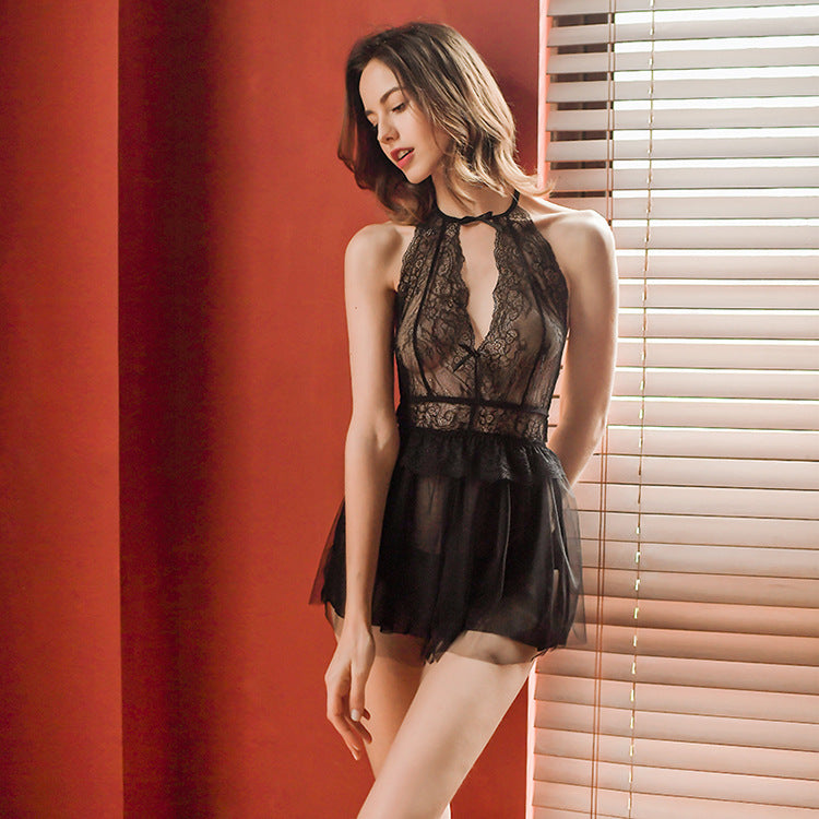 Black Sheer Dress Set