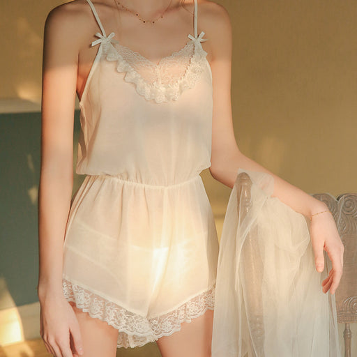 Sheer See Thru Sexy Flower Nighties