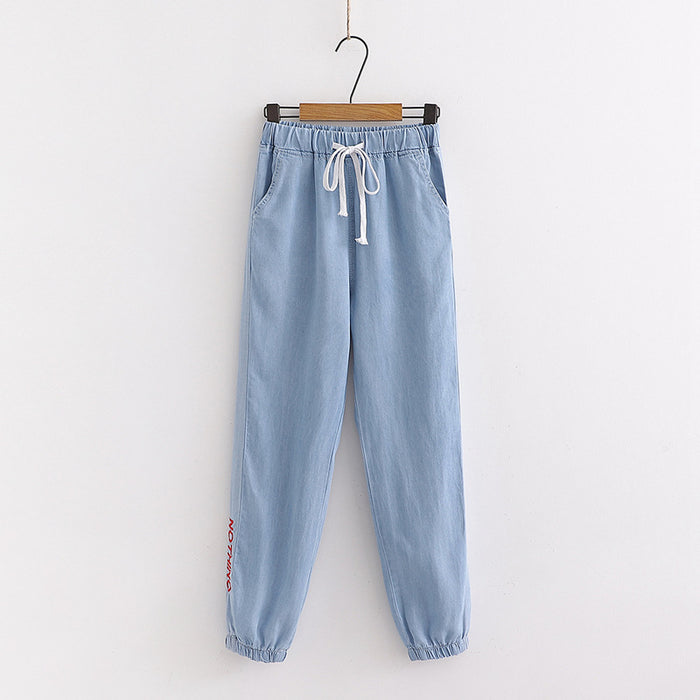 Japanese embroidery jeans