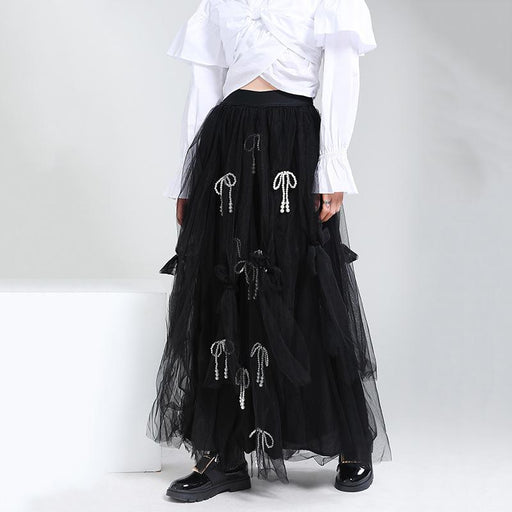 Gothic Lolita Bowknot Tube Top Dress Two Wearing Veil Fairy Skirt
