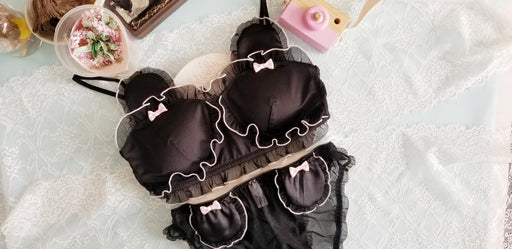 Kawaii Bear Tube Top Set