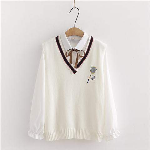 Cute Ulzzang Girls/' Fashion Sweet Strawberry Fruit Design Pink Hoodie Ribbon Design Summer Comfy Long Sleeves Pullover