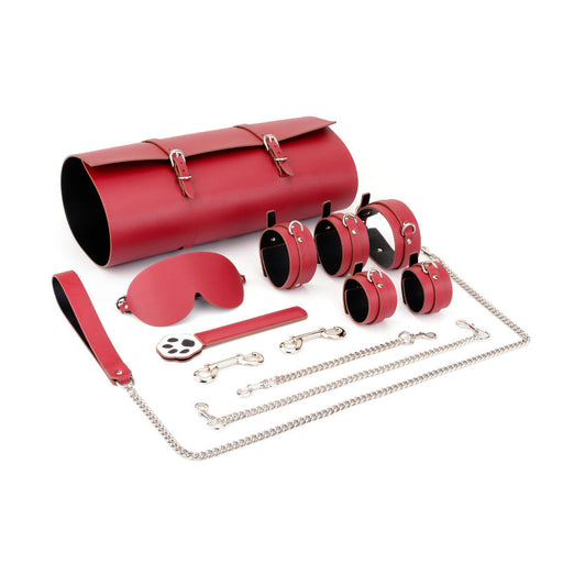 Sexy training supplies appliance storage bag leather-9pcs set