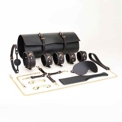 Sofyee Bdsm Adult Products Training Toy Handcuffs Passion Leather-11Pcs Set