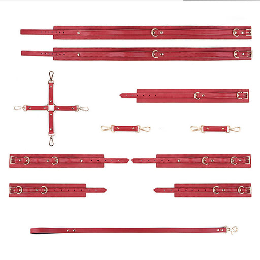 Husband And Wife Bdsm Supplies Leather Binding Thigh Loop-6Pcs Set