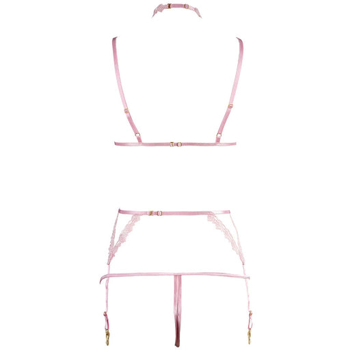 Sofyee Pink Bondage Girl Honeymoon Lingerie - Open Bra