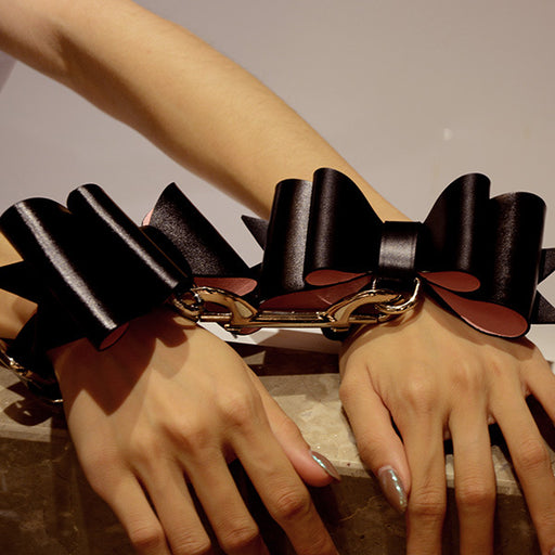 Sexy Leather Bundled Bow-5pcs Set
