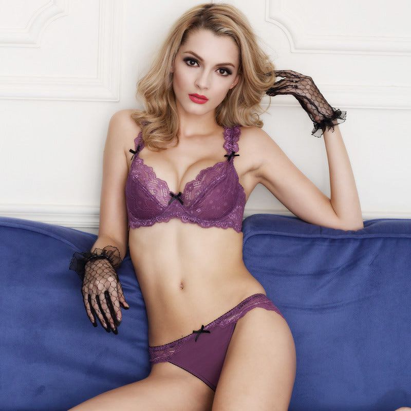 Lace Sheer Mesh 3/4 Cup Bra