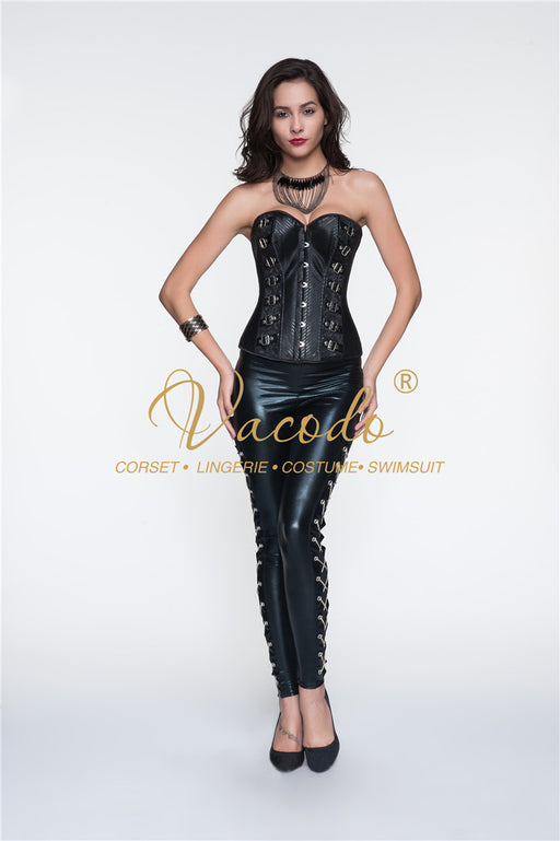 Vocado-Retro New Leather Corset