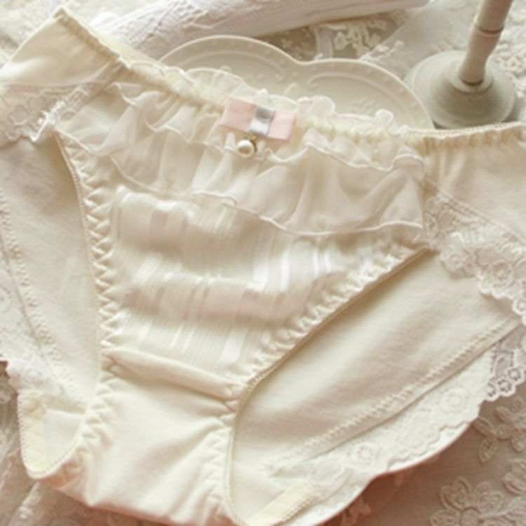 Kawaii Pearl Cute Lace Trimmed Sweetie Heart Underwear Panty