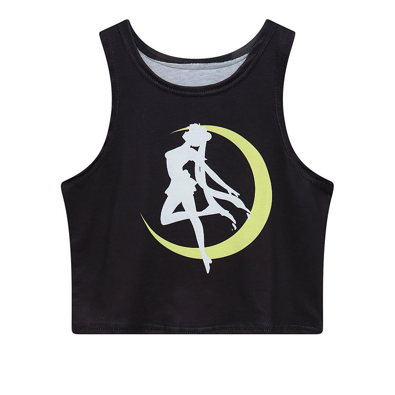 Lovely Sailor Moon Cropped Tank