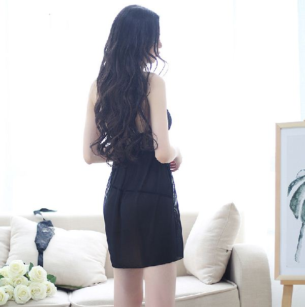 High-End Halter Hanging Neck Strap Nightdress Lace Temptation Sexy Underwear